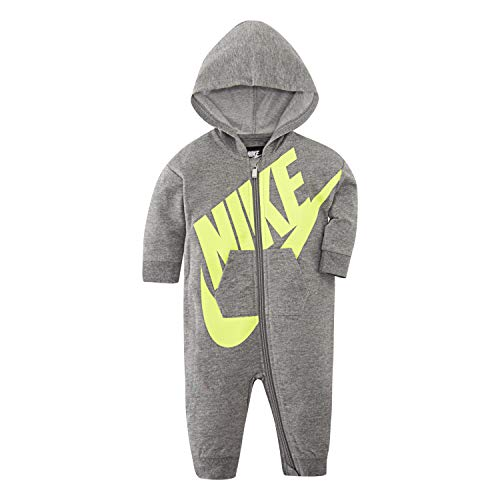 Nike Baby Hooded Coverall, Carbon Heather, 9 Months