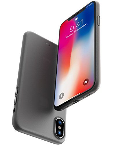 buy online 9ea47 afc0d TOZO iPhone X Case, Ultra Thin Hard Cover [0.35mm] World's Thinnest Protect  Bumper Slim Fit Shell iPhone 10/X [ Semi-Transparent ] Lightweight [Matte  ...