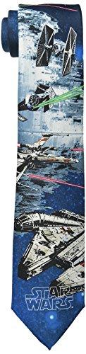 Star Wars Men's Death Star Battle Tie, Blue, One Size (Star Wars Tie)