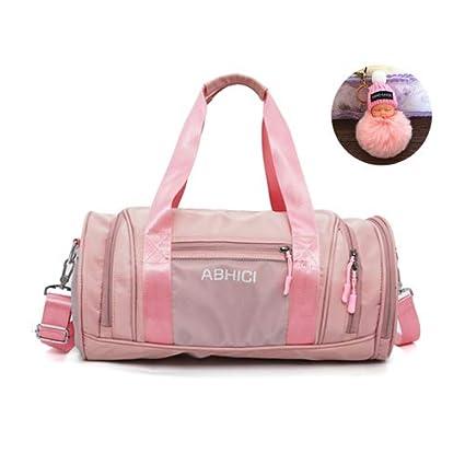 2019 Pink Black Sport Gym Bag con Almacenamiento de Zapatos ...