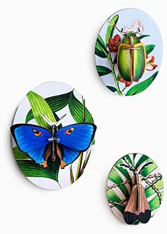 Studio Roof 3D Wall Decoration Collector's Box, Make Three Cardboard Insects and Mount on an oval Board, Version 2 (TTM80)