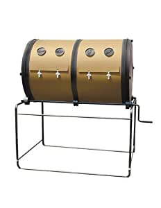 Mantis Compost-Twin Dual Chamber Composter, 65 W x 66 H x 41 D-Inch