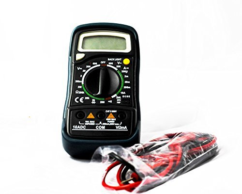 Dynamic Automotive Supplies Digital Multi Meter Capacitance tester with sturdy case great for mechanics tool set.