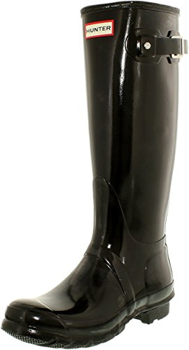 Hunter Women's Original Tall Gloss Snow Boot, Black,