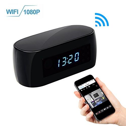 WIFI Hidden Clock Camera, KAMRE HD 1080P Nanny Cam Wireless
