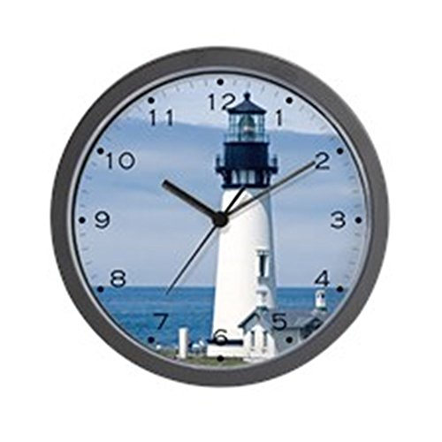 "CafePress - Yaquina Lighthouse - Unique Decorative 10"" Wall Clock"
