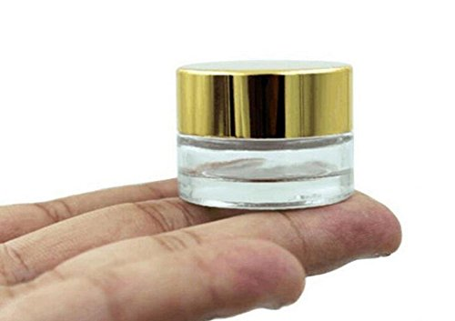 3pcs 10ml / 10G Clear Empty Glass Cosmetic Makeup Jars Pot S