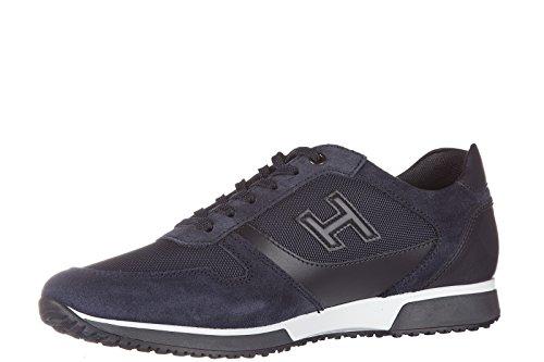 Hogan zapatos zapatillas de deporte hombres en ante nuevo h198 slash h 3d blu