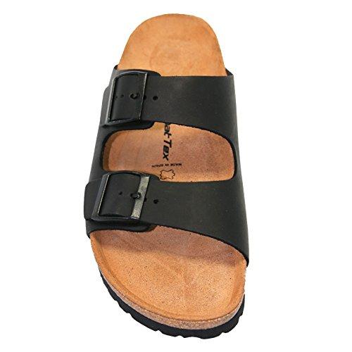 Sandalen Aus Leder, Schwarz Für Sie und Ihn Ledersandalen Größe 36 bis 47 Schwarz