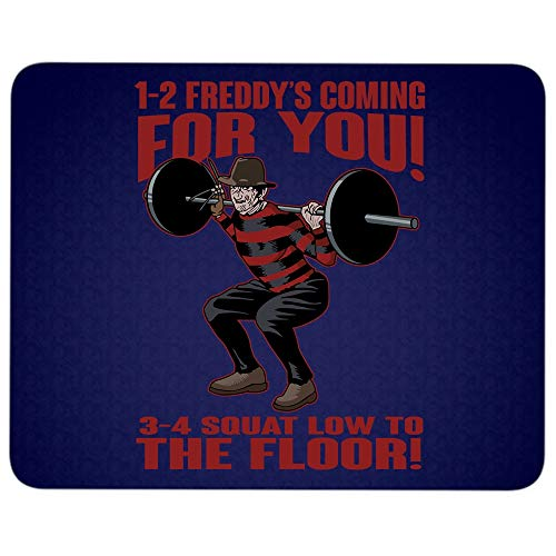 1-2 Freddy's Coming for You 3-4 Squat Low to The Floor Mouse Pad for Typist Office, Freddy Krueger Quality Comfortable Mouse Pad (Mouse Pad - Navy)