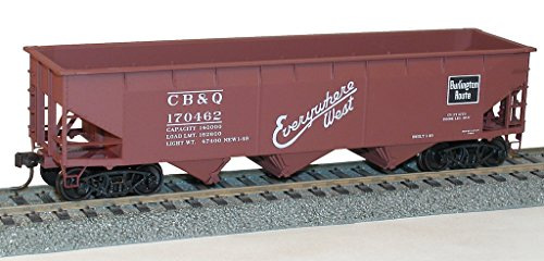 Accurail Model Trains Ho 70-Ton Offset-Side Triple Hopper Burlington