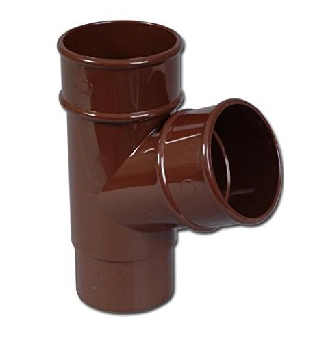 Brown Downpipe Y-Joint Round Pipe Branch Rainwater Pipe Accessories