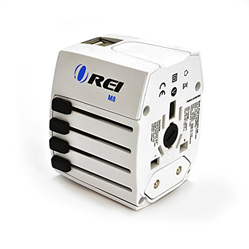 Travel Adapter, OREI Worldwide All in One Universal Power Converters Wall AC Power Plug Adapter Power Plug Wall Charger with Dual USB Charging Ports for USA EU UK AUS Cell phone Laptop by Orei (Image #7)