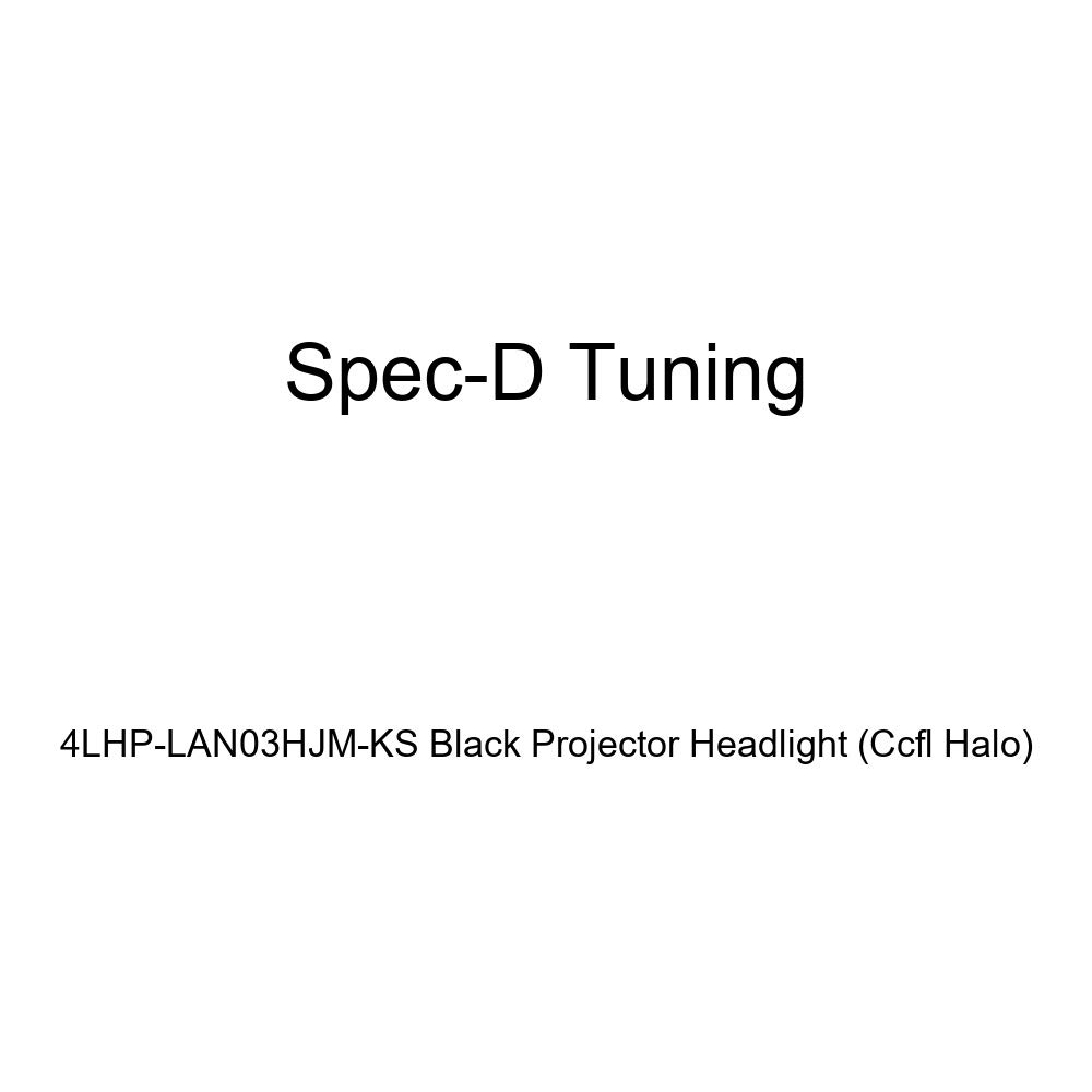 Spec-D Tuning 4LHP-LAN03HJM-KS Black Projector Headlight Ccfl Halo