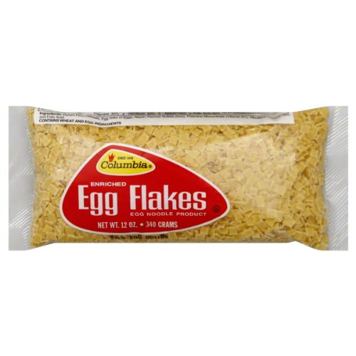 Columbia Egg Flakes Noodles, 12-Ounce  (Pack of (Columbia Egg)
