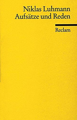 Aufsätze und Reden (Reclams Universal-Bibliothek)