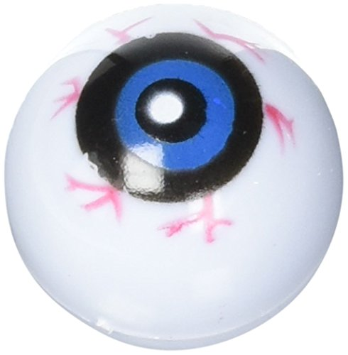 12 Hollow Plastic Eyeball Balls -
