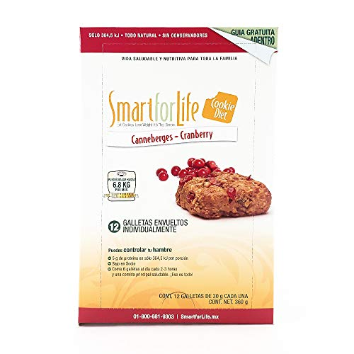 - Smart for Life Cookie Diet Meal Replacements, Cranberry Granola Squares, 1.05 oz cookie - 12-count