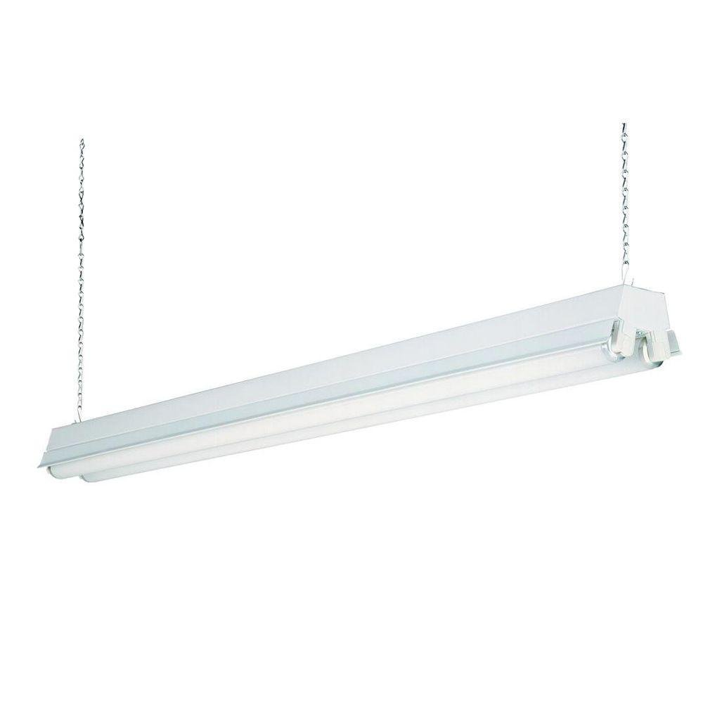 Lithonia Lighting 1233 RE 2-Light T8 Fluorescent Residential Shop Light, White