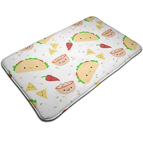 (Tuoneng Taco Tuesday,Kitchen Carpet Rug Door Mat Rug for Bathroom Outdoor Porch Laundry Living Multifunction Doormat (19.5