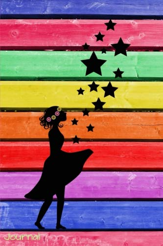 Journal: Rainbow Silhouette Girl Diary: 6 x 9 Blank 100 Pages Lined Planner for Keeping a Personal Reflection, Sketching or Jotting Down Favorite ... Writing Ideas for Women, Girls and ()