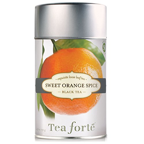 Tea Forte SWEET ORANGE SPICE Loose Leaf Black Tea, 4.58 Ounce Tea Tin