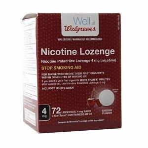 Walgreens Nicotine Lozenge, 4mg, Cherry, 72 ea