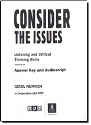 Consider the Issues: Answer Key by Carol Numrich (2010-03-01)