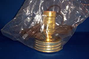 Canning Jar Lamp Adapter - Brass