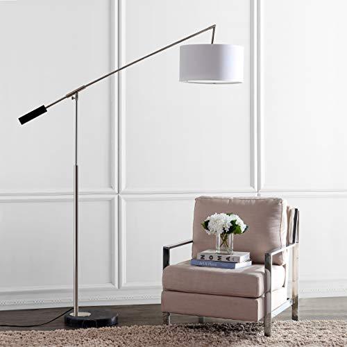 Safavieh Lighting Collection Carina 85.5-inch Shiny Nickel Balance Floor Lamp