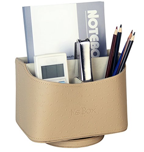 Ms.Box New Design Media Storage Faux Leather Spinning Rem...