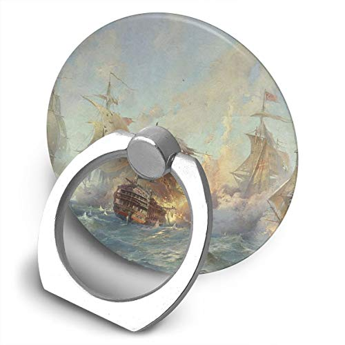 Round Finger Ring Stand Phone Holder Grip Ship Steamship 360°Rotation Kickstand for Smartphones and IPad