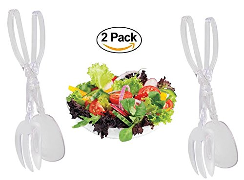Tools Serving Spoon Collective - 2 Plastic Salad Tongs. Kitchen Tool Serving Set. Add to your Salad Bowl. Dish Washer Safe