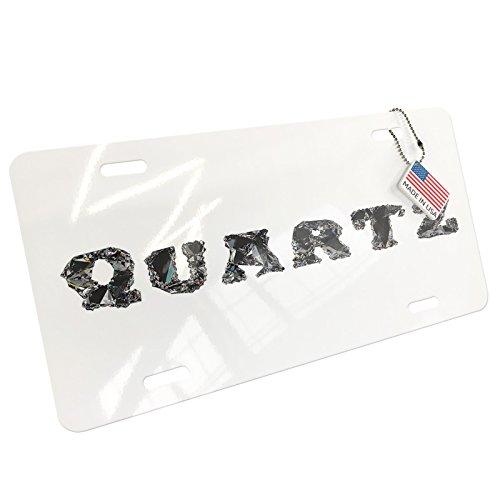 NEONBLOND Quartz Crystals Jewel Gems Lettering Aluminum License Plate