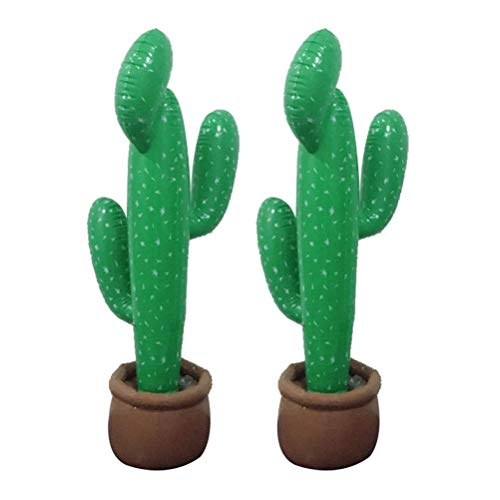 Blow Up Cactus (2pcs Inflatable Cactus with Potted Base Mexican Party Fiesta)