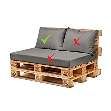 Grey Water Resistant Pallet Furniture 1 Piece Hollowfibre Back