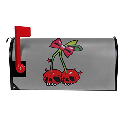 Tanyeflw Standard Size Mailbox Covers for Home Cherry Skull -