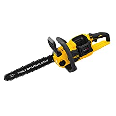 "The DEWALT DCCS670B 60v MAX Brushless Chainsaw, Baretool features a low kick-back 16"" Oregon Bar and Chain for construction and outdoor cutting applications. It also offers a chain brake for added kick back protection. A tool-free chain tensi..."