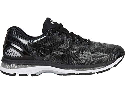 ASICS Men's Gel-Nimbus 19 Running Shoes, 9.5M, Black/Onyx/Silver