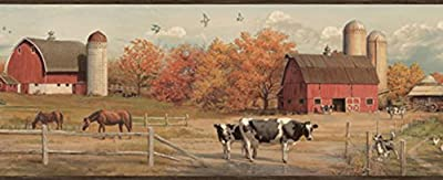 Chesapeake HTM48432B Winslow Black American Farmer Portrait Wallpaper Border