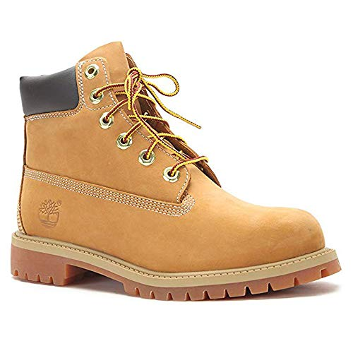 "Price comparison product image Timberland 6"" Premium Waterproof Boot,  Wheat Nubuck,  7.0 M US Big Kid"