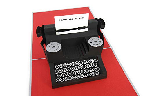 """PopLife Typewriter """"I Love You so much"""" 3D Pop Up Mothers, used for sale  Delivered anywhere in USA"""