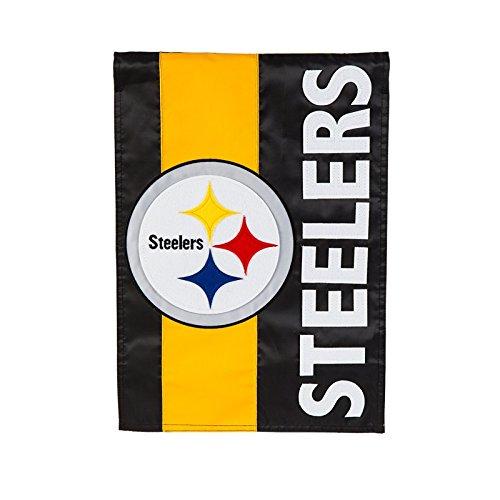 Team Sports America Pittsburgh Steelers Embellish Garden Flag, Multicolor