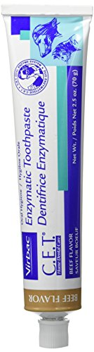 Cet Dog Toothpaste (CET Virbac Plaque Tartar Control Enzymatic Dog and Cat Toothpaste, 2.5 oz, Beef)