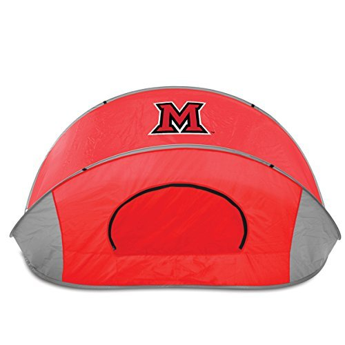 NCAA Miami Ohio Redhawks Manta Portable Pop-Up Sun/Wind Shelter by Picnic Time by PICNIC TIME