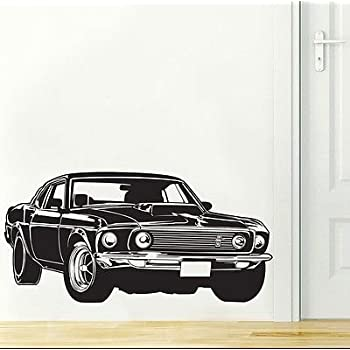 Ford Mustang Shelby GT Muscle Race Car Wall Decal Sticker Decor Wall Art Vinyl & Ford Mustang Shelby GT Muscle Race Car Wall Decal Sticker Decor Wall ...