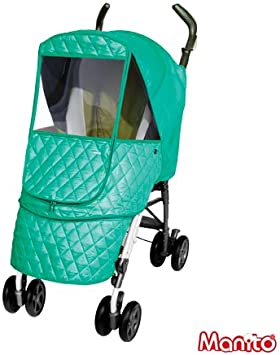 Wind Weather Shield for outdoor strolling Manito Eye Protective Wide Windows Rain Cover Castle Alpha Cover // Cover for Baby Stroller and Pushchair Choco