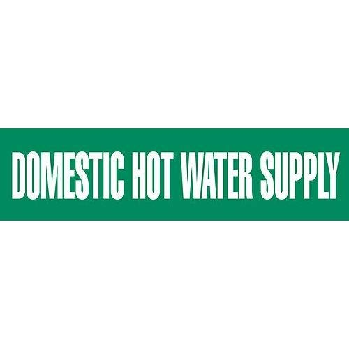 GHS Safety PM1100VB, Vinyl Pipe Marker''Domestic Hot Water Supply'', Pack of 500 pcs