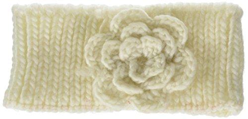Britt's Knits Head Warmer, Ivory Rosette, One (Rosette Accent Knit)