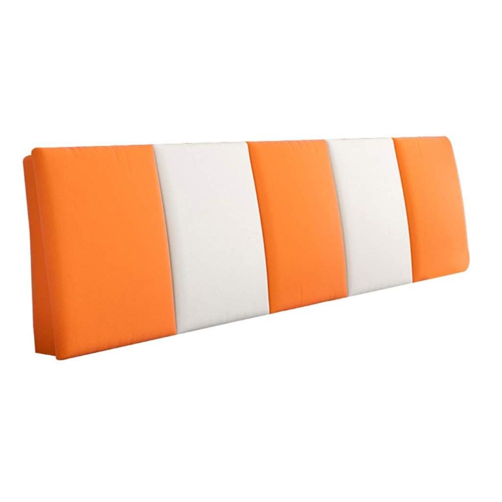 ZHWNGXO Bedside Cushion Wooden headboard Large Pillow Padded Waist backrest Soft Detachable 3 Color 12 Size (Color : B, Size : Bed Head 120×55cm) by ZHWNGXOlian